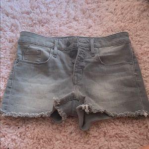 Grey button shorts